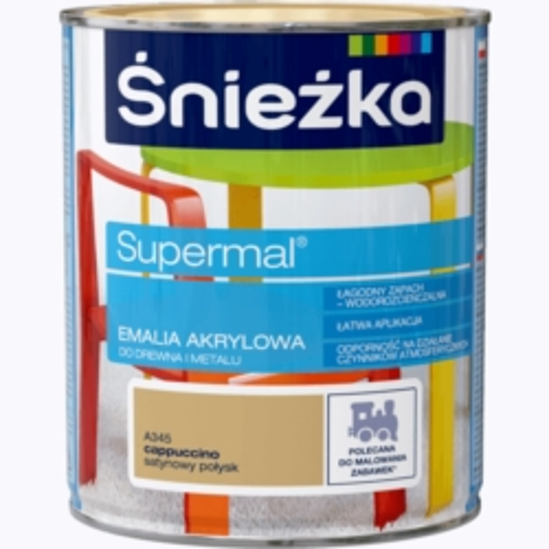 ŚNIEŻKA EMALIA AKRYLOWA UNIWERSALNA 0,8 L EKO-SUPERMAL CAPPUCINO