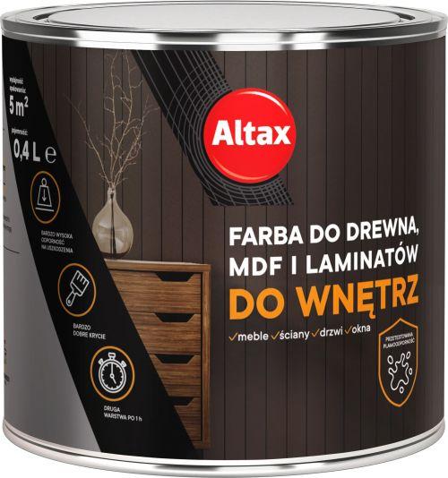 ALTAX EMALIA DO MDF/LAMINATU CZARNA 0,4L