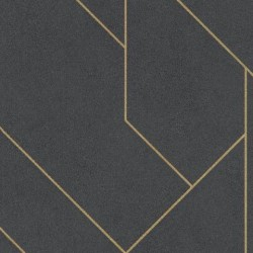 Tapeta Rasch 427431 - złote paski na ciemnym tle