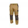 Beżowe Spodnie Robocze LD