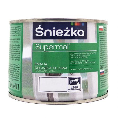 ŚNIEŻKA EMALIA FTALOWA SUPERMAL 0,4 L SZARY JASNY