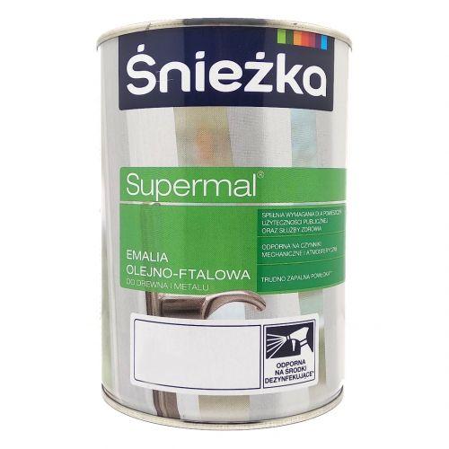 ŚNIEŻKA EMALIA FTALOWA SUPERMAL 0,8 L STALOWY POŁYSK
