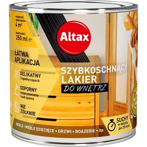 ALTAX LAKIER DO WNĘTRZ SZYBKOSCHNĄCY BEZBARWNY POŁYSK 0,25L